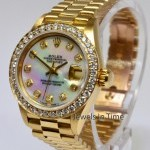 Rolex President Ladies 18k Gold Diamond Dial  Bezel MOP