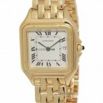 Cartier Panthere Large 18k Yellow Gold Quartz Mens Watch