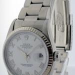 Rolex Datejust Stainless Steel Oyster Bracelet Mens Auto
