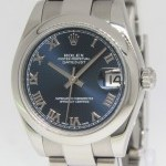 Rolex Datejust Stainless Steel Blue Dial Automatic Midsi