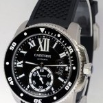 Cartier Mens Calibre Divers Watch Automatic Steel BoxPaper