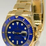 Rolex Submariner 18k Yellow Gold Ceramic Watch  Box V 11