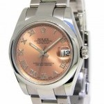Rolex Datejust Stainless Steel Salmon Dial Automatic Mid