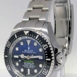 Rolex Deepsea BlackBlue Ceramic Steel Mens Watch BoxPape