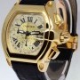 Cartier Roadster Chronograph 18k Yellow Gold Mens Automati