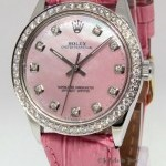 Rolex Oyster Perpetual Stainless Steel Pink MOP Diamond