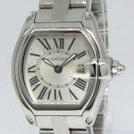 Cartier Roadster Stainless Steel Silver Dial Ladies Quartz