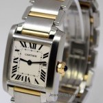 Cartier Tank Francaise Midsize 18k Yellow Gold  Steel Quar