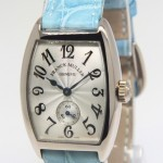 Franck Muller Cintree Curvex 18k White Gold Diamond Ladies Manua