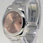 Rolex Ladies Oyster Perpetual Steel Pink Arabic Dial Box