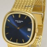 Patek Philippe Mens Jumbo Ellipse TV Screen 18k Gold Watch  Box 3