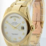 Rolex Mens Day Date Automatic Watch Mother Of Pearl Dial