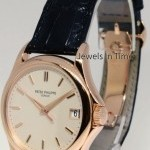 Patek Philippe Calatrava 18k Rose Gold Watch BoxPapers  Deployant