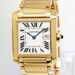 Cartier Ladies Tank Francaise 18k Yellow Gold Midsize Watc