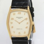 Patek Philippe Mens Gondolo 3842R 18k Rose Gold Tiffany Dial Manu