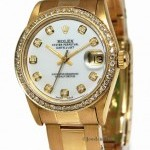 Rolex Datejust 18k Yellow Gold Diamond MOP Automatic Mid