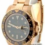 Rolex GMT Master II 18k Yellow Gold Ceramic Green Dial B
