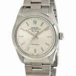 Rolex Air-King Stainless Steel Silver Dial Automatic Wat