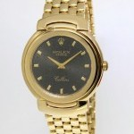 Rolex Midsize Cellini 18k Yellow Gold Jubilee Dial Quart