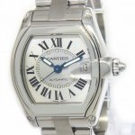 Cartier Mens Roadster Stainless Steel Silver Dial Automati