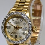 Rolex Datejust President 18k Gold  Factory Diamonds Auto