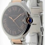 Cartier Ballon Bleu 42mm 18k Rose Gold  Steel Mens Automat