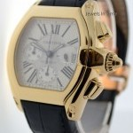 Cartier Roadster Chronograph XL 18k Gold Mens Automatic Bo
