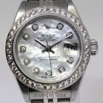 Rolex Ladies Datejust Steel 18k Gold MOP  Diamond Watch
