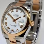 Rolex Datejust 18k Rose Gold  Steel Mens Watch BoxPapers