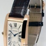 Cartier RARE LEFT HANDED American Tank 18k Rose Gold Watch