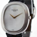 Patek Philippe Ellipse 18k White Gold Wrist Watch RARE 3589 Mothe