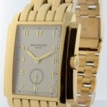 Patek Philippe Gondolo 18k Yellow Gold Mens Mechanical Bracelet W