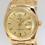 Rolex Day-Date President 18k Yellow Gold Florentine Dial