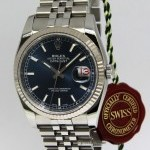 Rolex Datejust Stainless Steel Blue Dial Automatic Mens