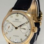 IWC Portuguese 7 Day Automatic 18k Rose Gold 42mm Mens