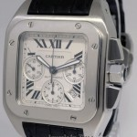 Cartier Santos 100 Chronograph XL Steel Mens Automatic Wat