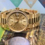 Rolex Day-Date President 18k Yellow Gold Champagne Mens