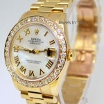 Rolex Midsize Datejust President 18k Yellow Gold MOP Dia