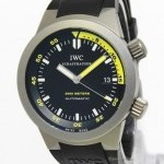 IWC Mens Aquatimer Titanium BlackYellow Dial Automatic