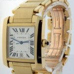 Cartier Tank Francaise 18k Yellow Gold Large Automatic Wat
