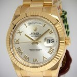 Rolex NEW Day-Date II President 18k Yellow Gold Mens Wat