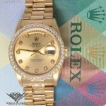 Rolex Day-Date President 18k Yellow Gold Diamond DialBez