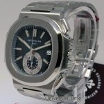 Patek Philippe Mens Nautilus Chronograph Steel Automatic Watch Bo