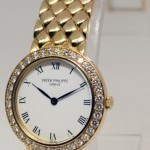 Patek Philippe Ladies 18k Yellow Gold  Diamond Dress Watch 48201