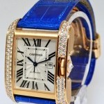 Cartier Tank Anglaise 18k Rose Gold Diamond Watch BoxPaper