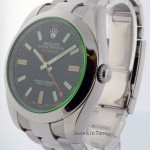 Rolex Milgauss Green Crystal Steel Mens Automatic Watch