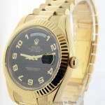 Rolex Mens Day Date II 18k Yellow Gold Automatic Bronze
