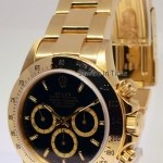 Rolex Zenith 18k Yellow Gold Daytona Chronograph Watch