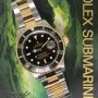 Rolex Submariner 18k Yellow Gold Stainless Steel Black D