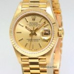 Rolex Datejust President 18k Yellow Gold Champagne Ladie